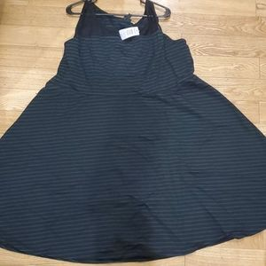 Torrid Teal Striped Skater Dress (Plus Size)